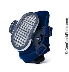 Blue respirator half mask isolated on white