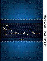 Blue restaurant menu