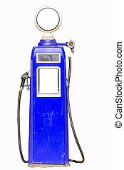 Blue retro gasoline pump
