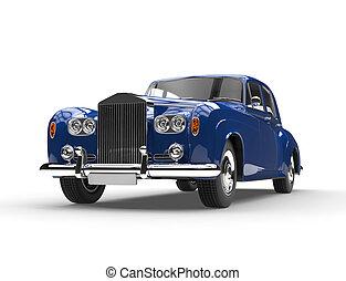 Blue retro vintage car