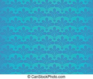 Blue retro wallpaper.