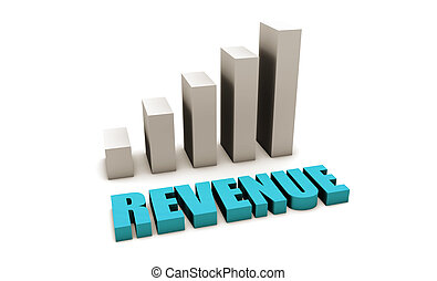 Blue Revenue of a Company Profits in 3d