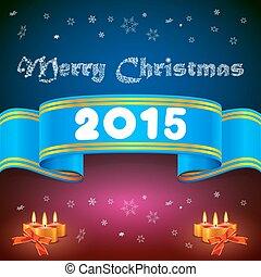 Blue ribbon 2014, Christmas background