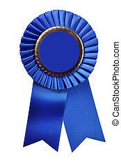Blue Ribbon Award (with clipping path) - Blue ribbon award...