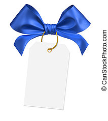 blue ribbon bow