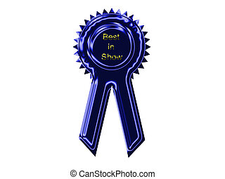 Blue Ribbon - Blue ribbon with gold letters