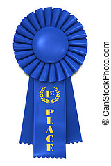 Blue Ribbon for First Place - Blue Ribbon Award with First...