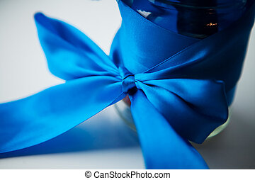 blue ribbon gift wrap