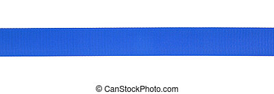 Blue ribbon isolated on a white background. Gift ribbon.