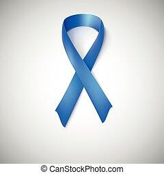 Blue ribbon loop.