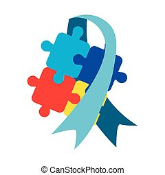 autism awareness day - blue ribbon puzzles autism awareness...