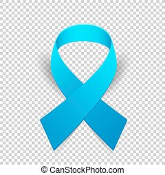 Blue ribbon solidarity awareness symbol