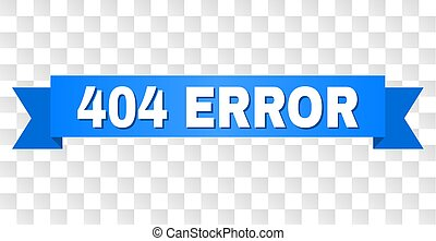 Blue Ribbon with 404 ERROR Caption