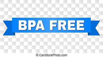 Blue Ribbon with BPA FREE Caption