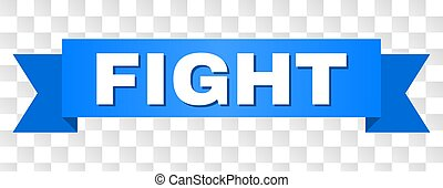 Blue Ribbon with FIGHT Title