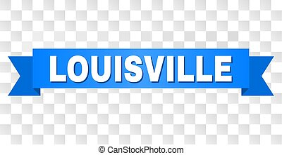 Blue Ribbon with LOUISVILLE Caption