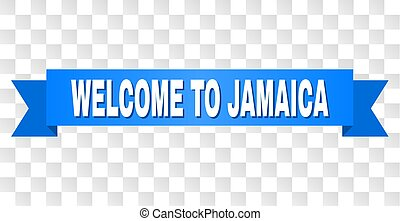 Blue Ribbon with WELCOME TO JAMAICA Title