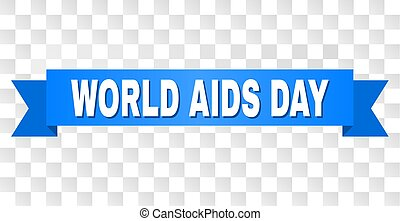 Blue Ribbon with WORLD AIDS DAY Title
