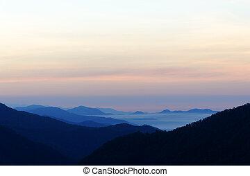 Blue Ridge Mountain Mist - Beautiful blue ridge mountains in...