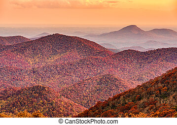 Blue Ridge Mountains in Autumn Season