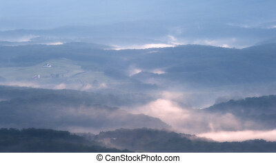 Blue Ridge Mountains in the evening