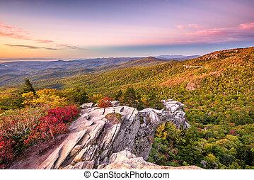 Blue Ridge Mountains landscape at Lin Cove