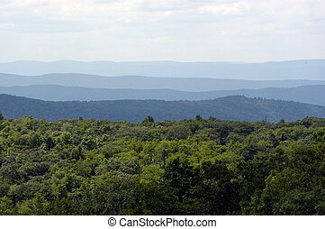 Blue Ridge Mountains - The blue ridge mountains in Virginia.