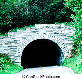 blue ridge mountains tunnel