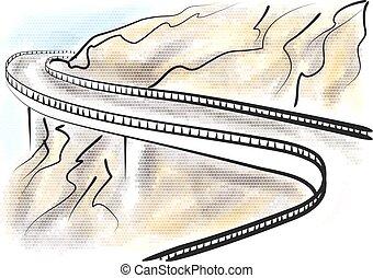 Blue Ridge Parkway abstract vector illustration on...
