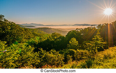 blue ridge parkway early morning