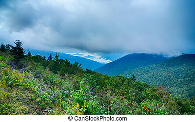 Blue Ridge Parkway National Park Sunrise Scenic Mountains summer
