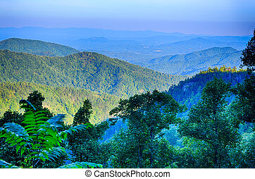 Blue Ridge Parkway National Park Sunset Scenic Mountains summer