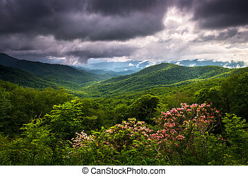 Blue Ridge Parkway North Carolina Appalachian Mountains Spring Scenic Landscape Photography