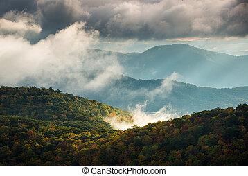 Blue Ridge Parkway North Carolina Scenic Fall Mountains Sunrise Landscape Photography
