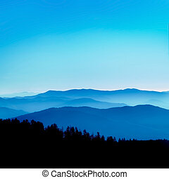 Blue Ridge Vista - View from Clingmans Dome, Great Smoky...