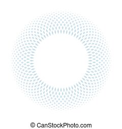Blue ring mosaic on white background. Stylish abstract design element