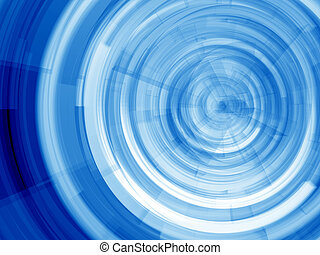 Blue rings - Blue Virtual whirl - computer generated image