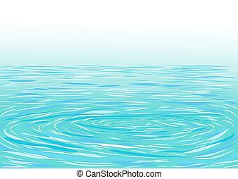 Blue ripple water surface