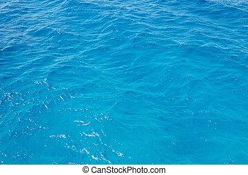 Blue rippled sea water
