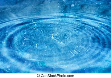 Blue Ripples II - Blue water ripples.