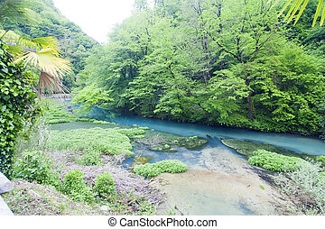 Blue river