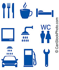 blue road icons