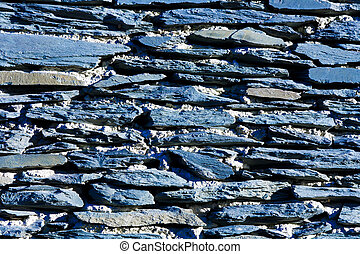 Blue rocks wall texture