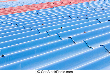 Blue roof background