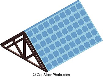 Blue roof icon, isometric style
