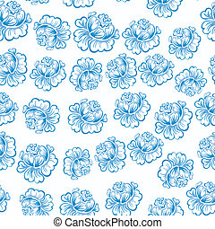 Blue Roses Pattern