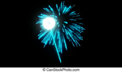 Blue rotating Fireworks slow mo