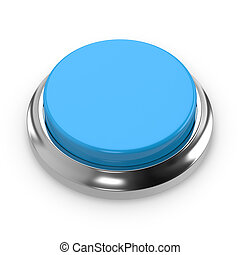 Blue round blank button