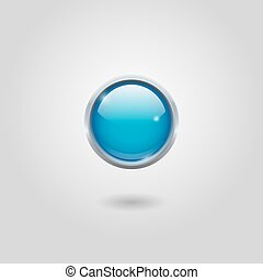 Blue round button