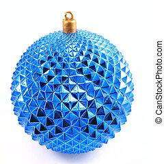 christmas ornament - blue round christmas ornament